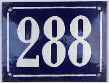 Large French house number 288 door gate plate plaque enamel steel metal sign