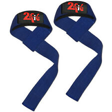 2FIT Wrist Straps Weight Lifting Training Gym Hand Bar Wrist Support Gloves Blue