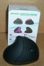 HEALTHY MOUSE HOMOO S8 OPTICAL VERTICAL MOUSE BLACK USB RECHARGEBLE uns nib