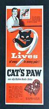 1950 Print Ad CAT'S PAW Non-Slip Rubber Heels Soles Shoe Repair Craftsmen Boots