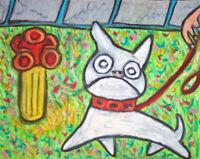dog art FRENCH BULLDOG print 11x14 gift modern folk KSams Bathroom Collectible