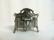 NEW AVESON Rectangle Vintage Metal Treasure Chest Trinket Jewelry Box Gift Box