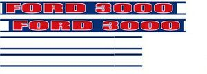 1780 Ford New Holland Tractor Decal Kit Ford 3000