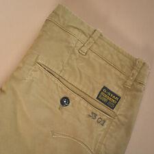 Vintage GStar 3301 Jeans Straight Leg Button Fly Brown (Label W30L34) W 32 L 36
