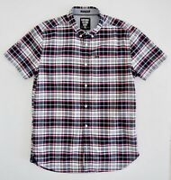 SUPERDRY Mens Check Shirt ULTIMATE OXFORD Size M Short Sleeve 100% Cotton NWOT