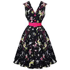 Voodoo Vixen Zelda Atomic Space Girl Vintage 1950s Retro Flared Swing Dress