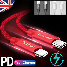 Iphone Xr/8/8 Plus Lighting 1M Pd Heavy Duty Fast Charging Charge Cable Lead