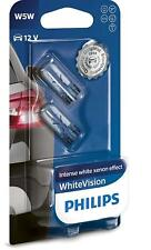 12961NBVB2 PHILIPS W5W White Vision Position Sidelights Indicators Plate Bulbs
