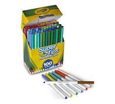 Crayola Super Tips Washable Markers 100 Count BIG Box SuperTips Colors Art Craft
