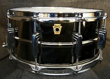 "Ludwig drums Black Beauty 6.5"" x 14"" Black Nickel over brass snare drum LB417"