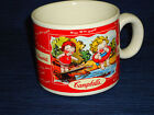1998 Campbell's Soup Kids MUG CUP swimming & sitting on fence West Wood