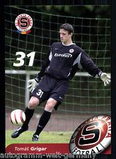 Tomas Grigar Autogrammkarte AC Sparta Prag 2004-05 + A 213201 OU