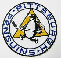 LOT OF (1) HOCKEY PITTSBURGH PENGUINS ROUND PATCH PATCHES ITEM # 95  TYPE B