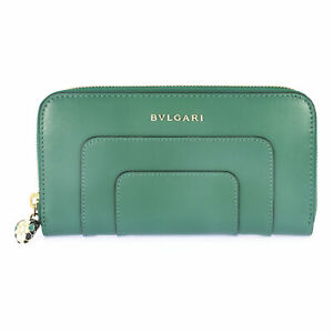 Bvlgari Serpenti Forever Leather And Enamel Wallet 36722