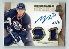 11-12 UD The Cup Honorable Numbers  Magnus Paajarvi  /91  Auto  Patches