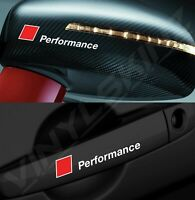 4x Audi Performance Mirror / Handle Decals Stickers Premium Quality 4 Colours RS