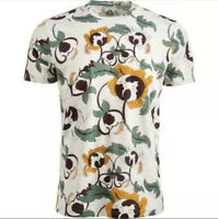 New American Rag Men's XL Oatmeal Abstract Floral S/S Crewneck T-Shirt