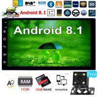 2Din Android Car Stereo MP5 Player GPS Radio WiFi BT Unità principale+fotocamera