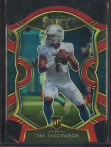 2020 Panini Select TUA TAGOVAILOA RC Rookie Red Die-Cut Prizm #45 Dolphins JSV2