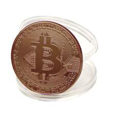 1x Copper Plated Bitcoin Coin Collectible Gift BTC Coin Art Collection Physical