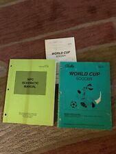 Original World Cup Soccer Set Bally Pinball game Manual