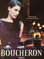 PUBLICITÉ 1994 BOUCHERON LE PARFUM BAGUE - ADVERTISING