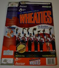 Original 1996 Wheaties U.S. OLYMPIC WOMEN'S GYMNASTICS GOLD Cereal Box (Flat)