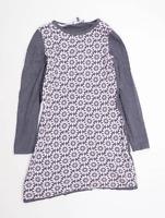 Laura Ashley Womens Size 10 Floral Cotton Blend Grey Dress (Regular)