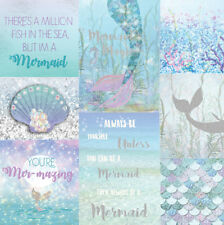 Arthouse Mermazing Ice Blue Mermaid Wallpaper - Sparkle Glitter lilac Teal Blue