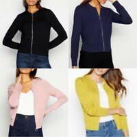 Principles Women Zip Through Cardigan Ladies Long Sleeve Soft Knit Cardi BR174