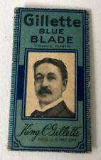 Vintage Single KING GILLETTE BLUE BLADE RAZOR BLADE In Wrapper BOSTON USA
