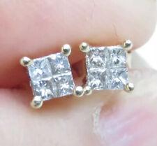 Beautiful Genuine 0.40ct Diamond Stud Earrings 9K Yellow Gold