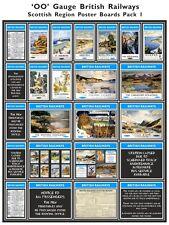 British Railways Scottish Region Model Railway Poster Packs - OO Gauge 4mm
