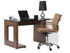 Sorbonne White & Walnut Executive Computer Desk