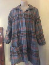 Hannah Beaumont Organic Ethical Light Overcoat Checked Button Down Shirt Tartan