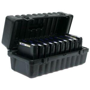 Turtle 3590/3490/3480 Cartridge Case 10 tape capacity with plastic cliplocks