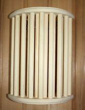 SAUNA Paralume per lampada schermo di legno angolare conifera TONDO