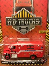 Greenlight  HD TRUCKS Memphis Fire Dept. International Durastar Ambulance LAST 1