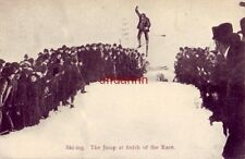 SKI-ING THE JUMP AT THE FINISH OF THE RACE 1907 European Post Card Co Montreal