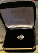 Ring By Olive Ave Size 8.5 Cib Aeries - 14K White Gold Moissanite Engagement