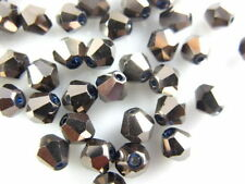200pcs Lead Grey Glass Crystal Faceted Bicone Beads 4mm Spacer Jewelry Findings
