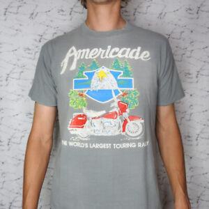 Vintage Harley Davidson Americade Rally Lake George New York T Shirt Medium