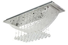 Rain Drop Bridge Wave Crystal Ceiling Light Pendant Lamp Chandelier