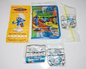 Rare Complete Set of 4 with the Bag The Smurfs (2011) Toys Hardee's Sealed
