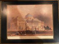 Vintage Lady Clare Placemats Set of 8 Washington DC Landmarks Felt back Gold