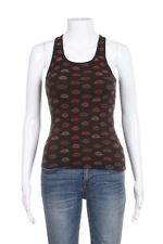 VANS Tank Top Size Small Black Kiss Lipstick Pink Red Ribbed Tee Sleevless