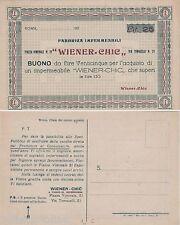 "# ROMA: CARTOLINA/BUONO FABBRICA IMPERMEABILI ""WIENER - CHIC"""