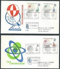 1978 VATICANO FDC VENETIA 153 POSTA AEREA TELECOMUNICAZIONI TIMBRO DI ARRIVO S13