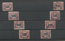 1878 REGNO D'ITALIA FRANCOBOLLI SERVIZIO  DEL1875 SOVRASTAMPATI 8 VALORI USATI