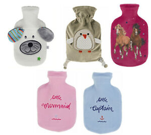 Fashy 0.8L Latex Allergy Free Hot Water Bottle & Cover